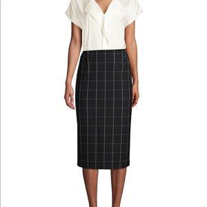 F21 Windowpane Pencil Skirt
